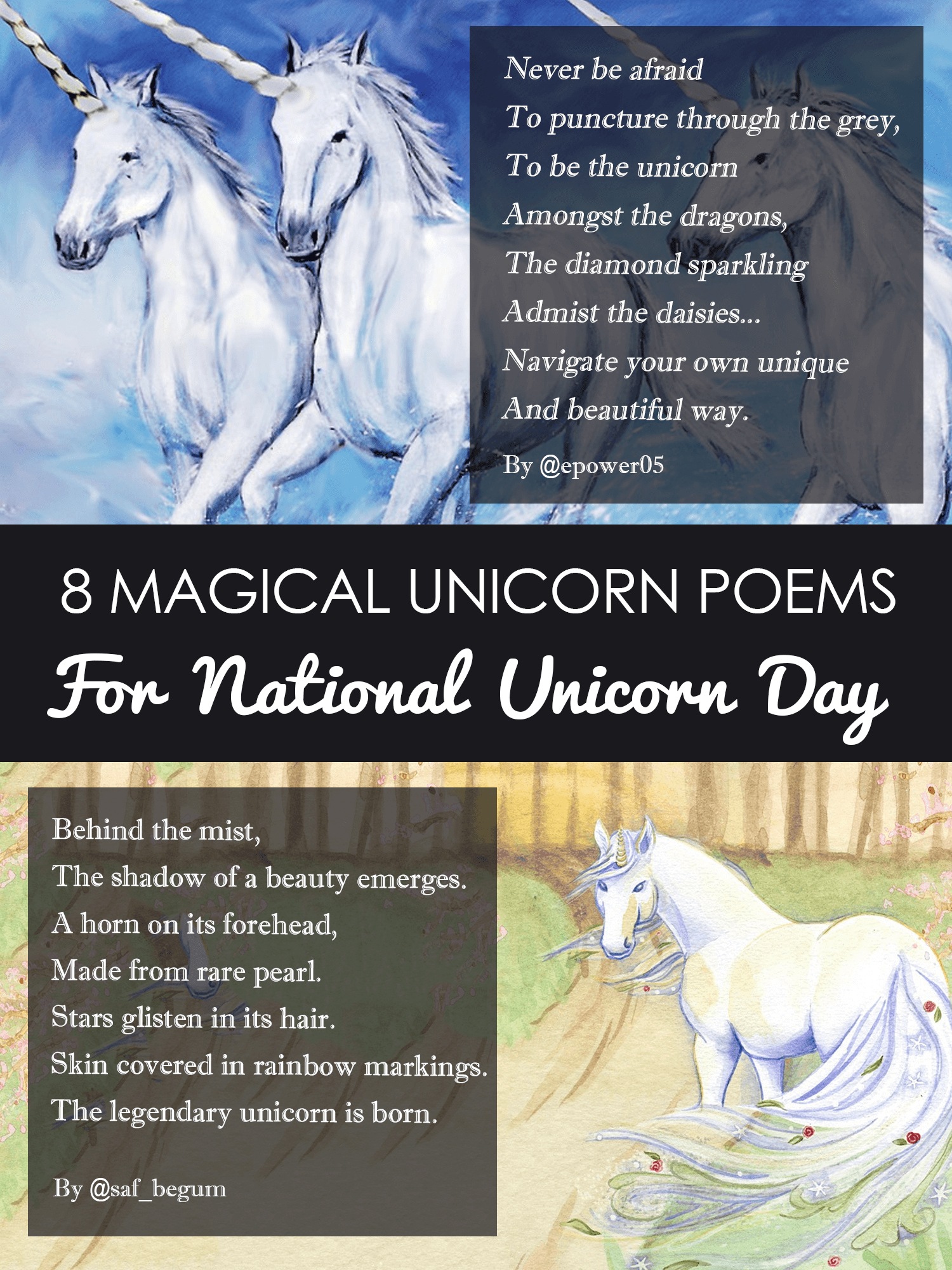 17fab7f0 8 Magical Unicorn Poems for National Unicorn Day | Imagine Forest