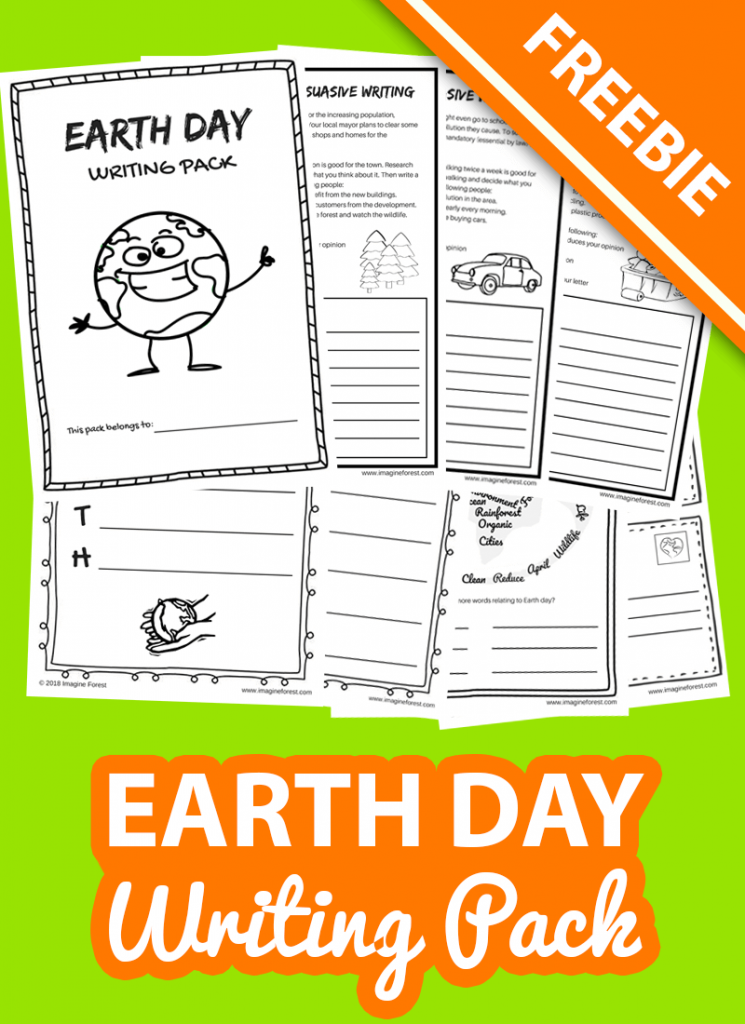 Earth day writing pack freebie for kids by imagine forest
