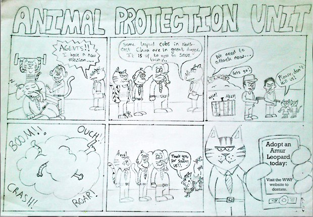 animal protection unit comic strip example