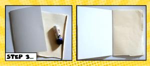 comic book step 3 glue cover