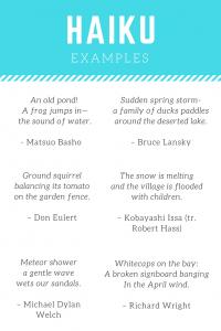 haiku examples for kids imagine forest