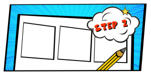 how to create a comic strip-step 2