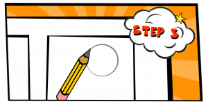 how to create a comic strip-step 3