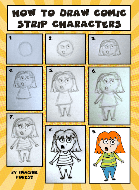 how to draw comic strip characters