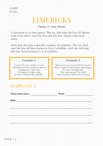limerick template printable