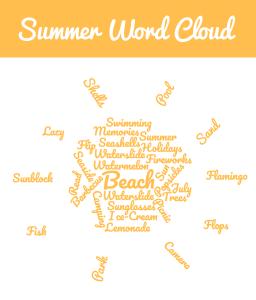 summer word list word cloud