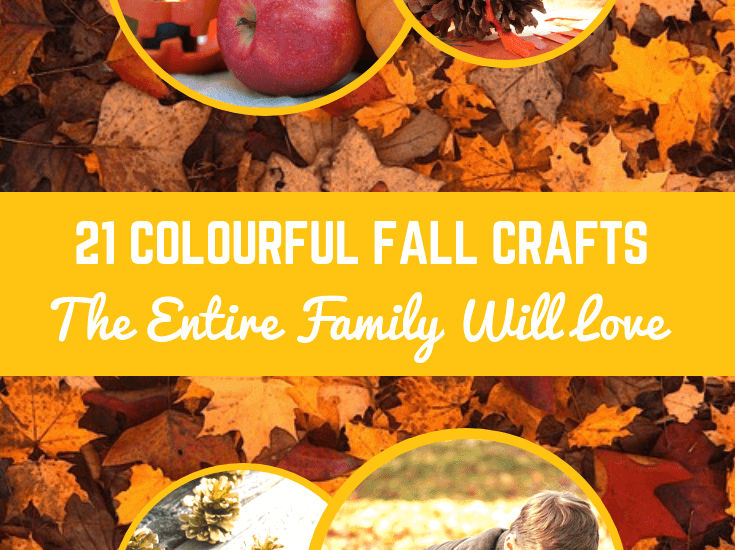 21 Colourful Fall Crafts the Entire Family Will Love