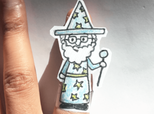 make paper finger puppets hand
