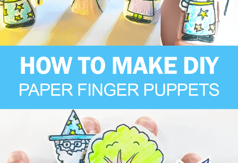 How to Make Paper Finger Puppets