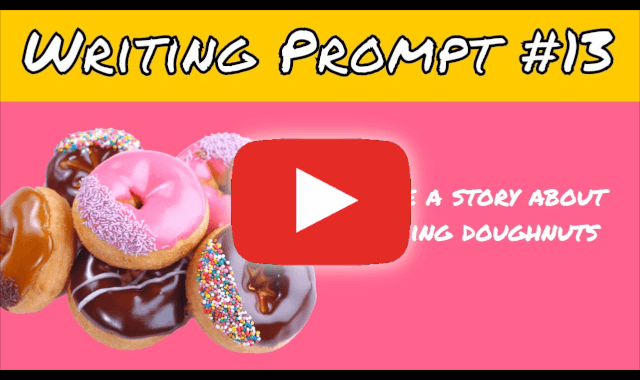 Video Writing Prompts raining donuts