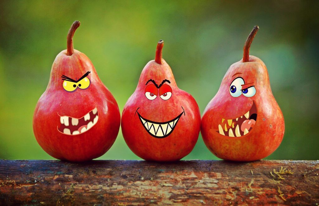 writing prompts for kids - three evil pears