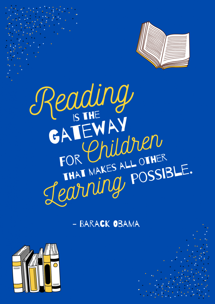 reading is the gateway for children barack obama quote