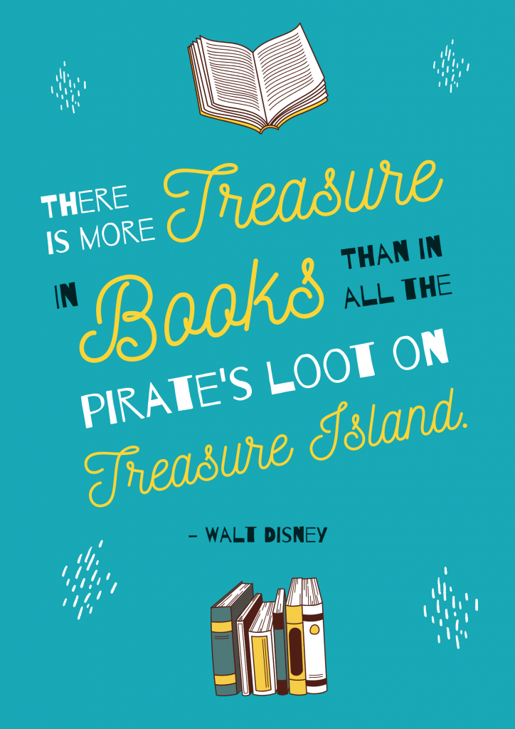 there is more treasure in books walt disney reading quotes for kids